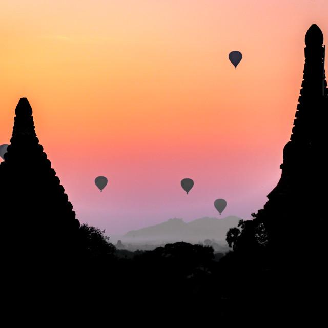 """Temples of Bagan"" stock image"