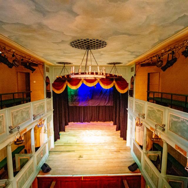 """The Georgian Theatre Royal Interior, Richmond, North Yorkshire."" stock image"