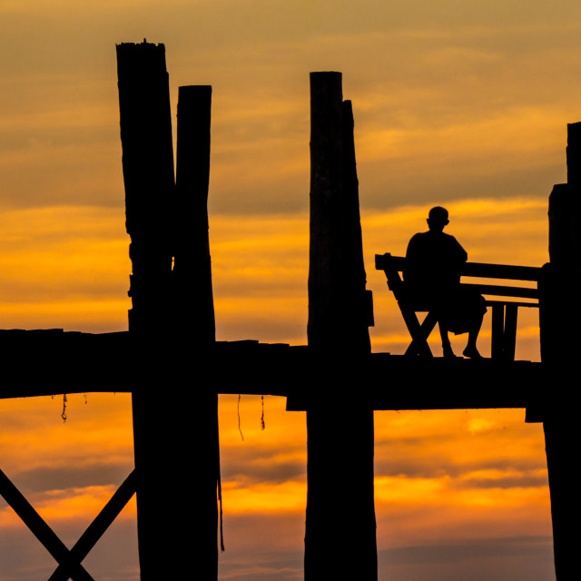 """U Bein's Bridge"" stock image"