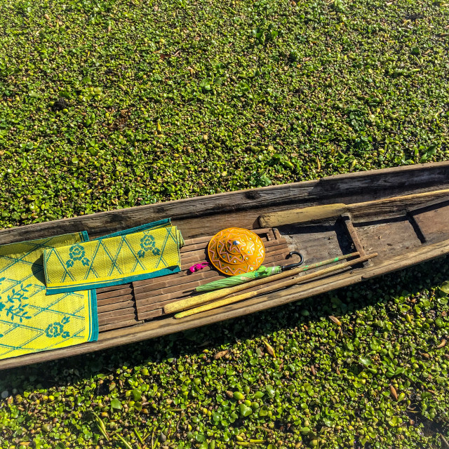 """Boat of the Inle Lake"" stock image"