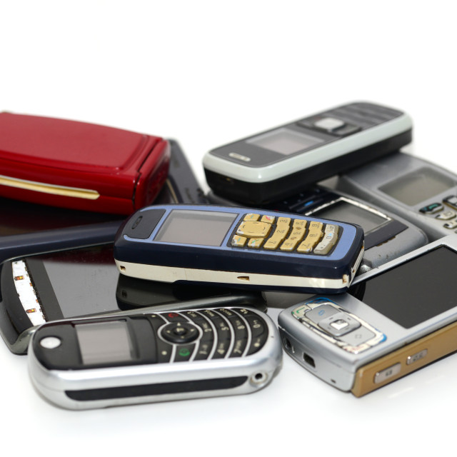 """""""old mobile phones"""" stock image"""