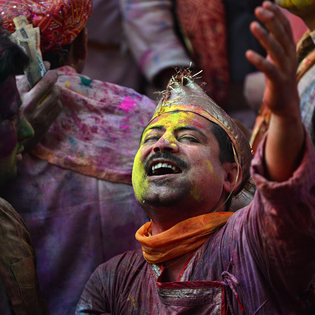 """Colors of HOLI 04"" stock image"