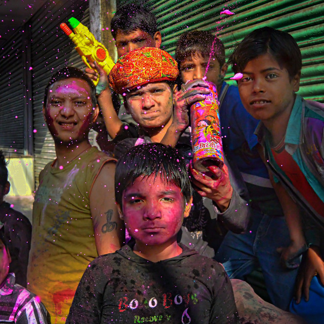 """Colors of HOLI 01"" stock image"