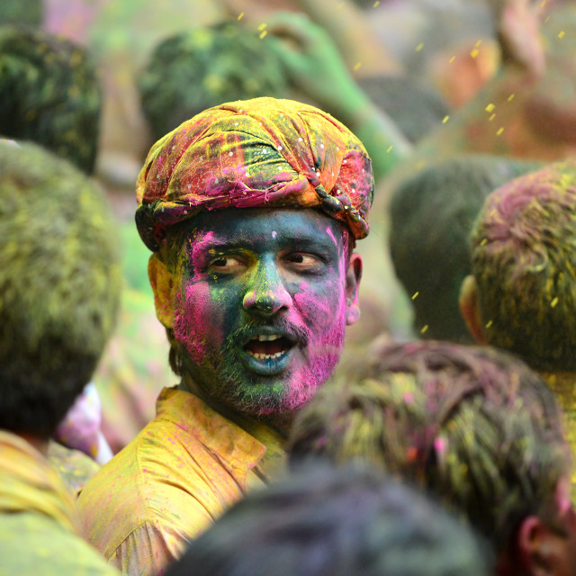"""Colors of HOLI 06"" stock image"