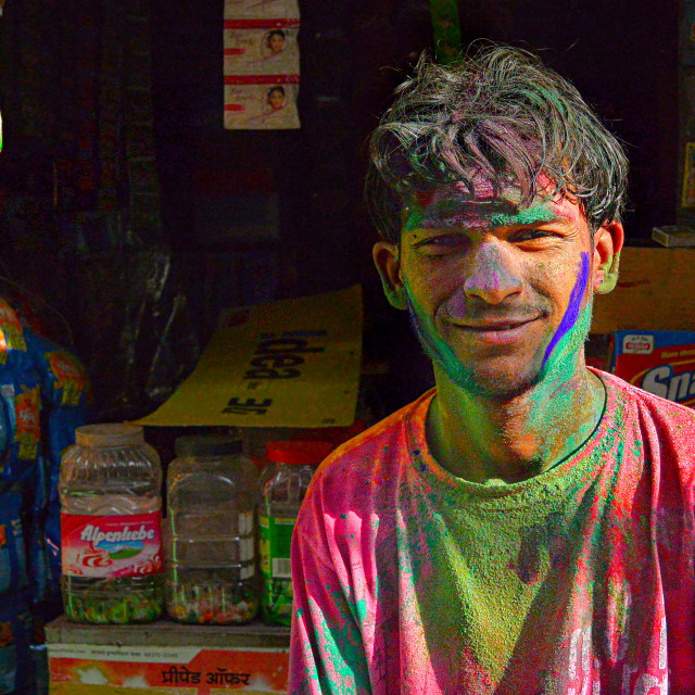 """Colors of HOLI 08"" stock image"