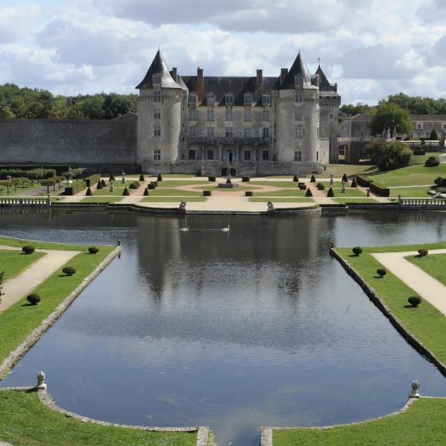 """""""Chateau La Roche Courbon, Charante Maritime"""" stock image"""