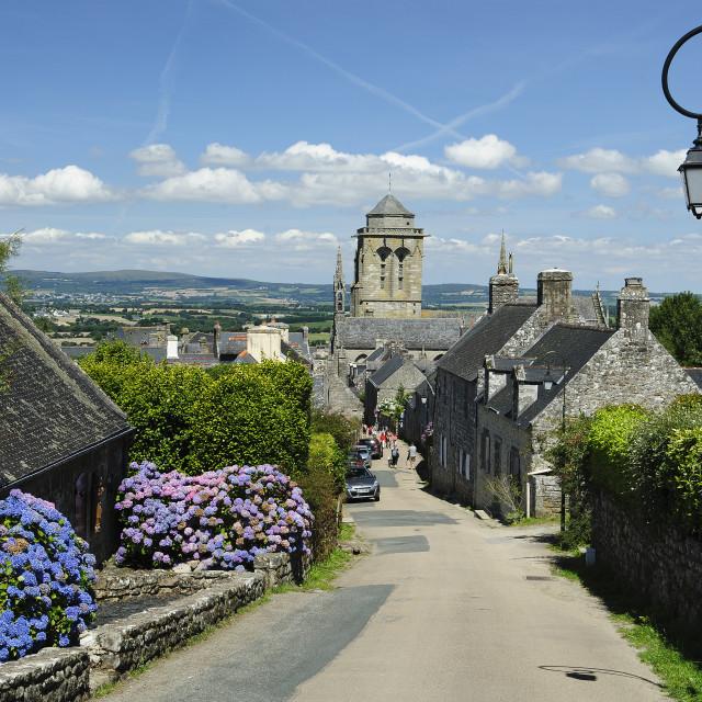 """Locronan, Brittany"" stock image"