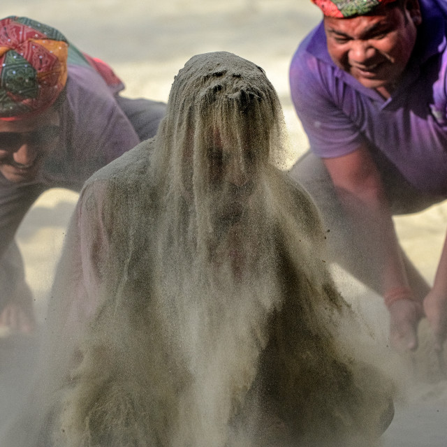 """Sand Shower"" stock image"