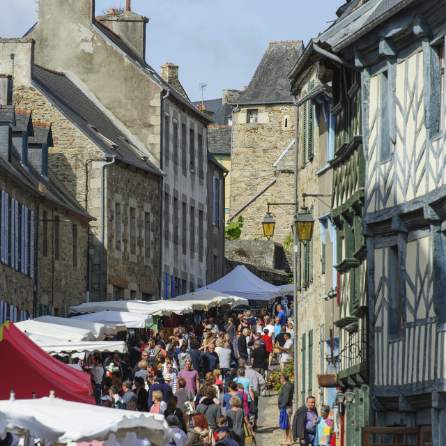 """""""Treguier, Brittany"""" stock image"""