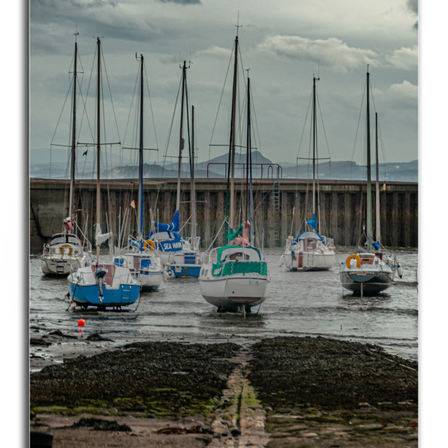 """""""Dysart Harbour"""" stock image"""
