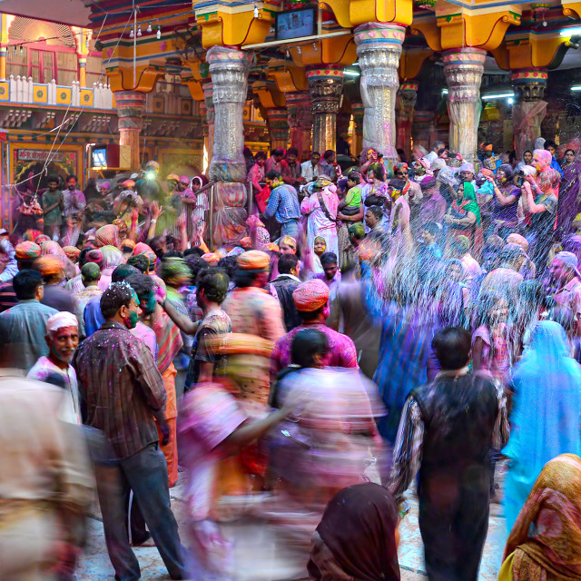 """Colors of HOLI 14"" stock image"