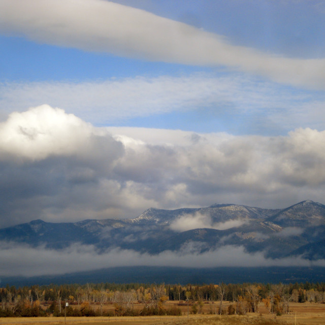 """""""Montana Landscape with mountains in the background"""" stock image"""