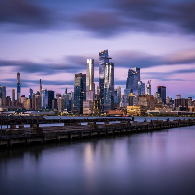 """New York City Pastel Purple"" stock image"