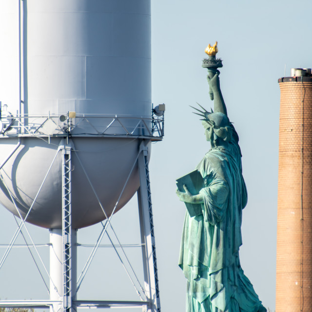 """Over the shoulder - Lady Liberty"" stock image"