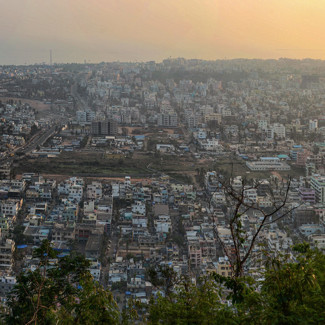 """Aerial View of Visakhapatnam"" stock image"