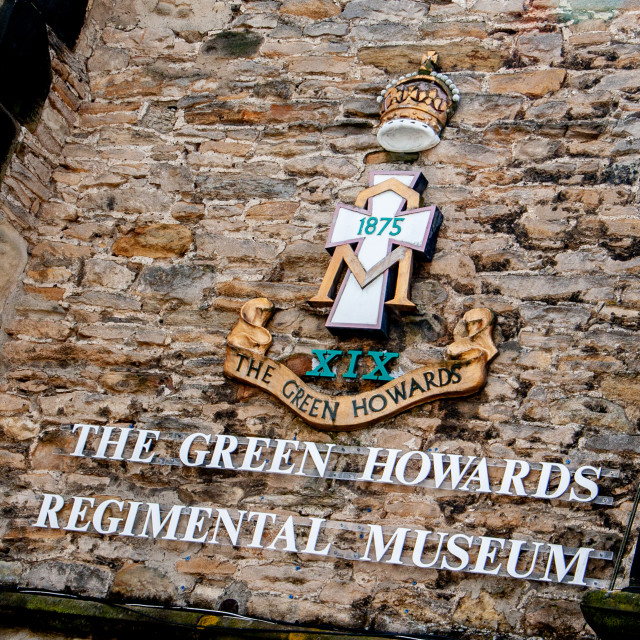 """""""The Green Howards Regimental Museum, Richmond, North Yorkshire."""" stock image"""