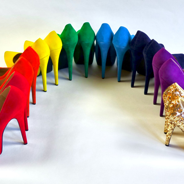 """""""Shoe Stories - At The End Of The Rainbow"""" stock image"""