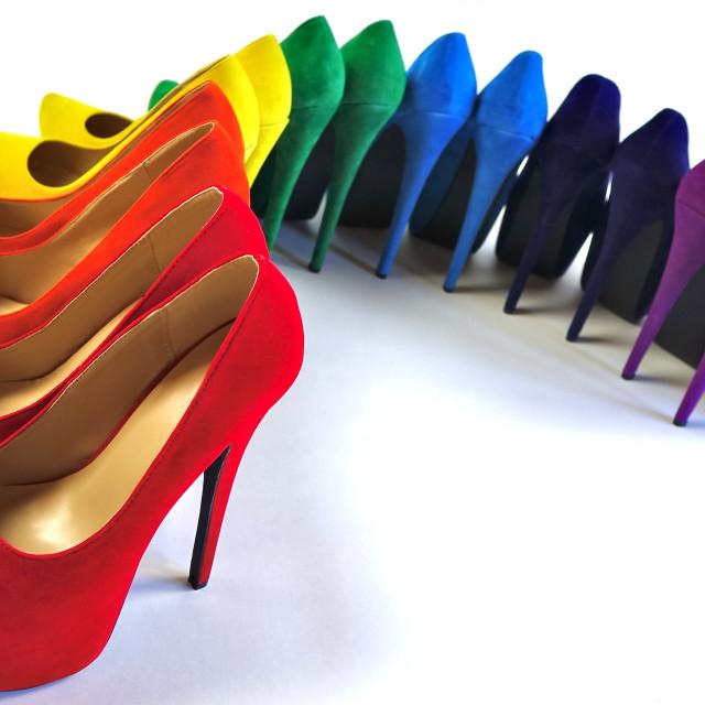 """Shoe Stories - Shoe Rainbow"" stock image"