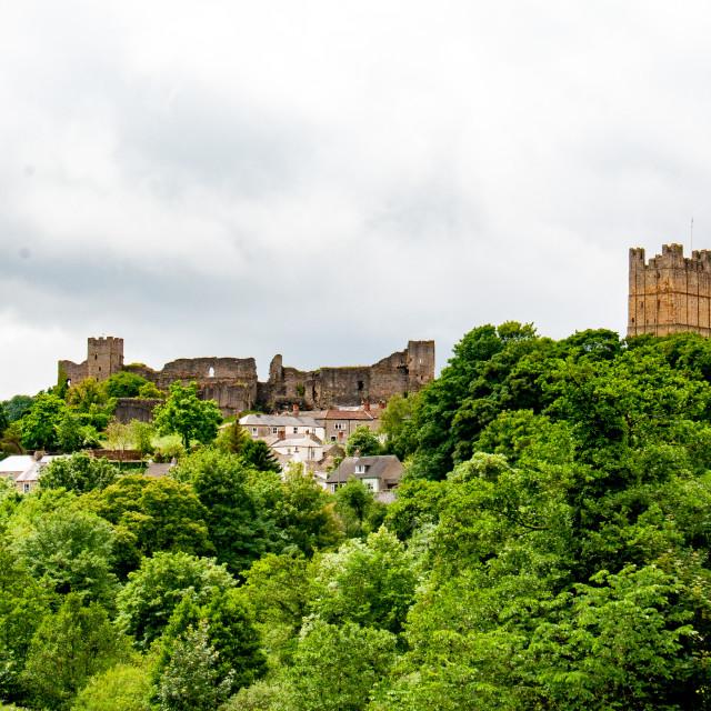 """Richmond Castle, North Yorkshire."" stock image"