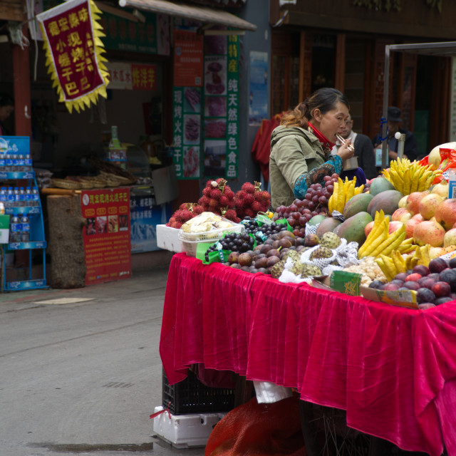 """China Street Fruit store1"" stock image"