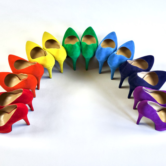 """Shoe Stories - Rainbow Curve"" stock image"