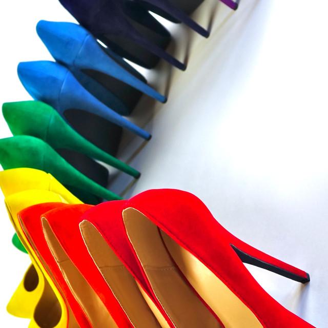 """Shoe Stories - Upside Down Rainbow"" stock image"