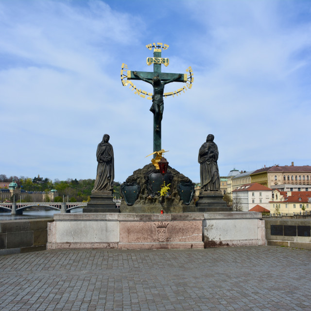 """Jesus on Charles Bridge"" stock image"