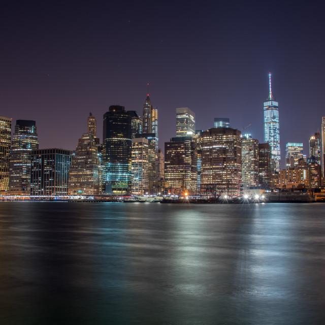 """""""NYC at Night"""" stock image"""