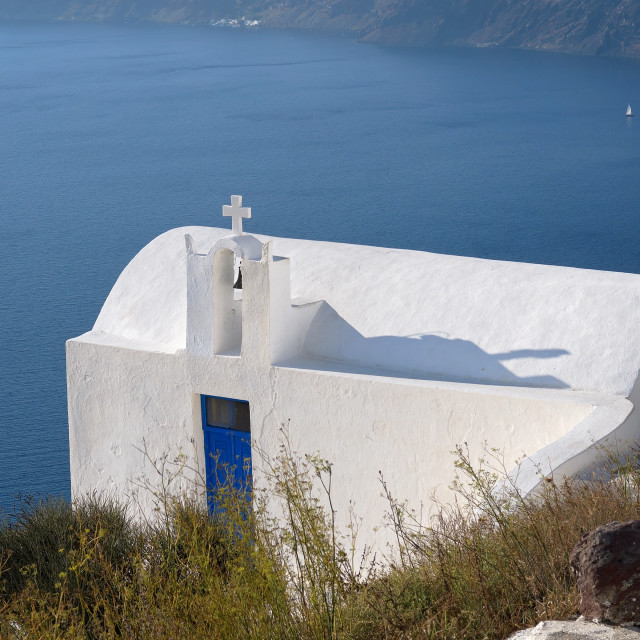 """Santorini Church"" stock image"