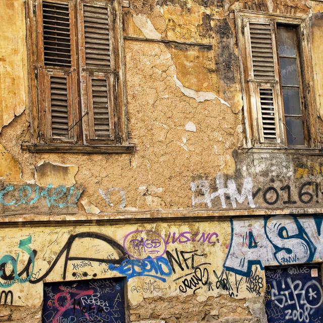 """Street Art Athens"" stock image"