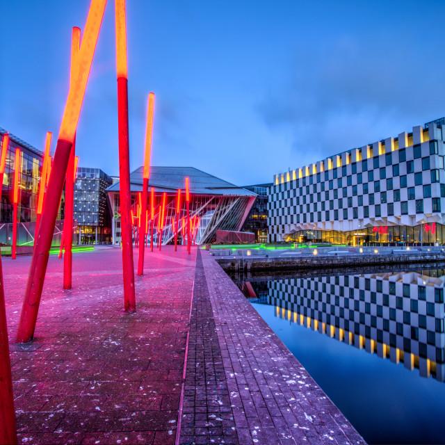 """Dublin Docklands"" stock image"