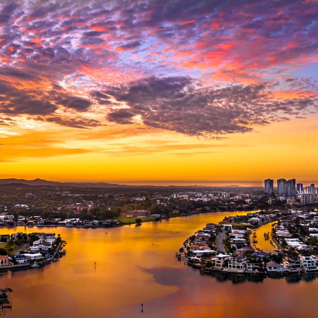 """Gold Coast Sunsets"" stock image"