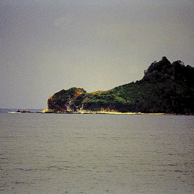 """""Crocodile Island"" in the Philippines"" stock image"