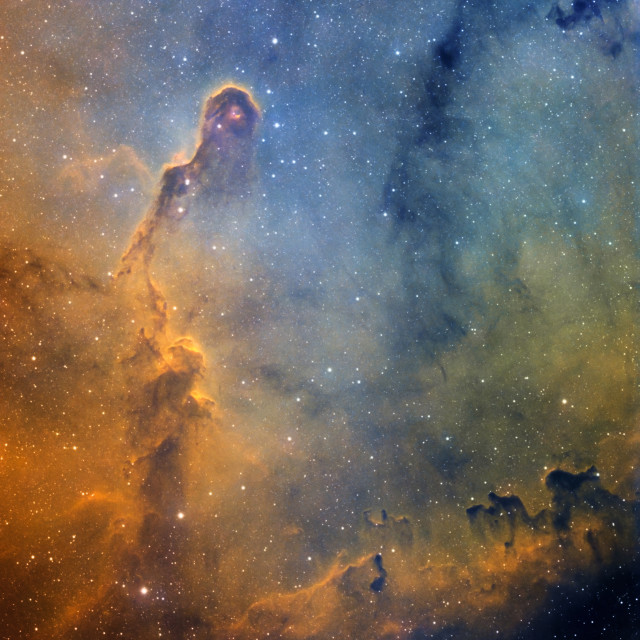 """The Elephant's Trunk Nebula (IC 1396) in the constellation Cepheus, HST image"" stock image"