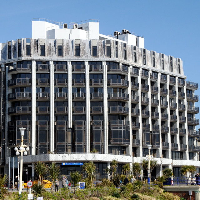 """""""The View Hotel Eastbourne. Photo taken when knoiwn as The Eastbourne Centre."""" stock image"""