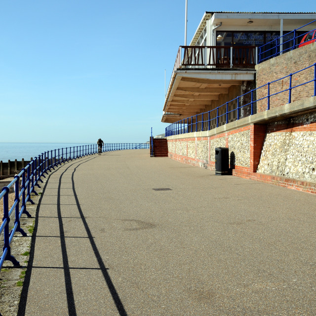"""""""The Old Wish Tower Cafe, Eastbourne. (Now Demolished)"""" stock image"""