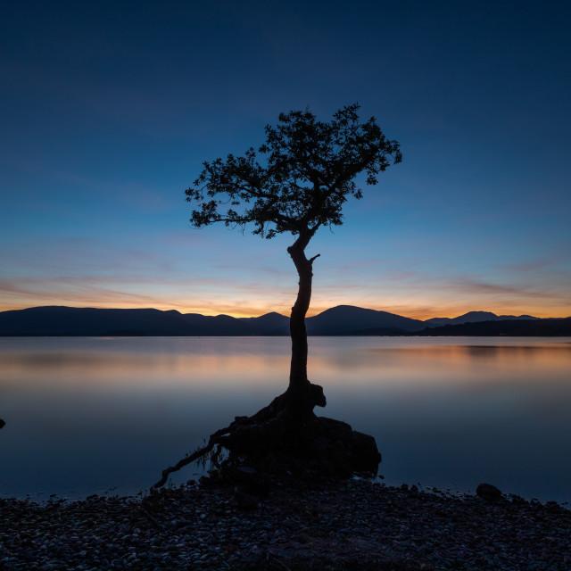 """Twilight over Loch Lomond"" stock image"