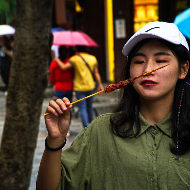 """Street food China"" stock image"