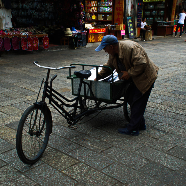 """Street scene China"" stock image"