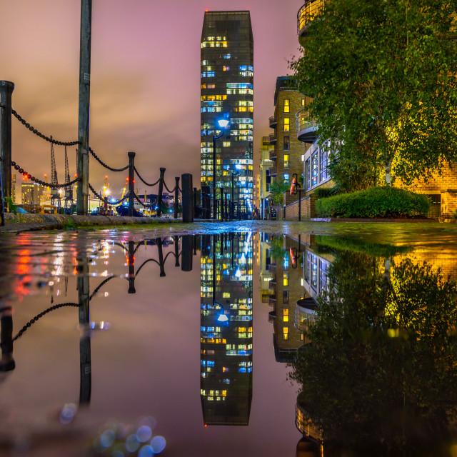 """South Quay - Canary Wharf, London, UK"" stock image"