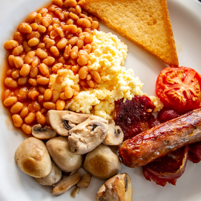 """English Breakfast."" stock image"