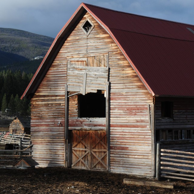 """""""Traditional Montana Barn"""" stock image"""