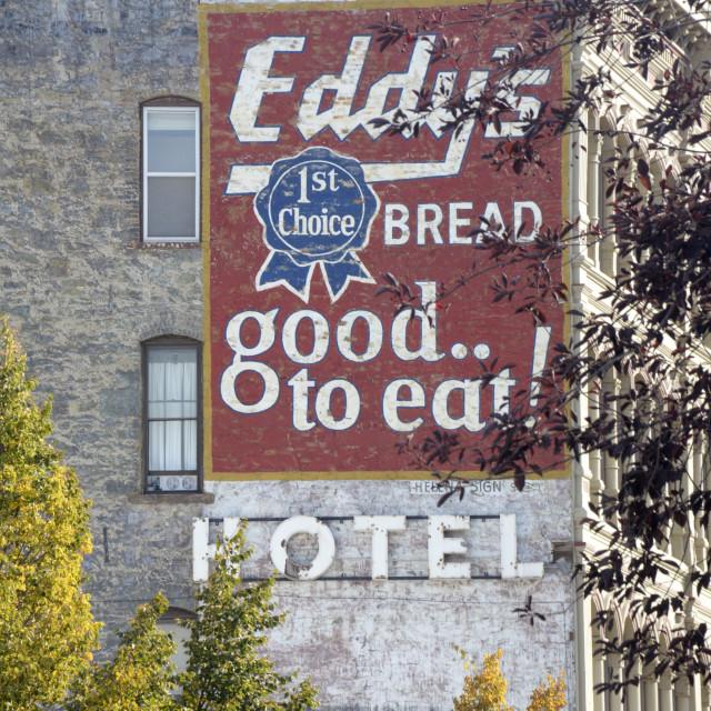 """""""Eddy's Bread, Helena, Montana"""" stock image"""
