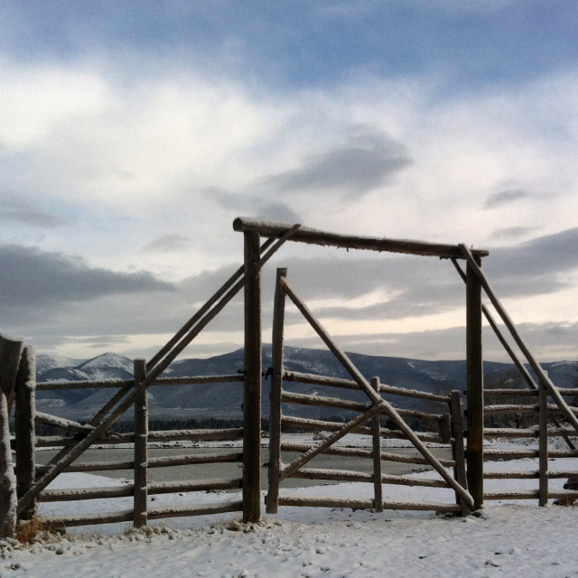 """Ranch gateway"" stock image"