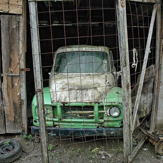 """""""Abandoned old truck"""" stock image"""