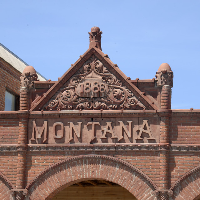 """""""Montana Hotel, Anaconda, Montana"""" stock image"""