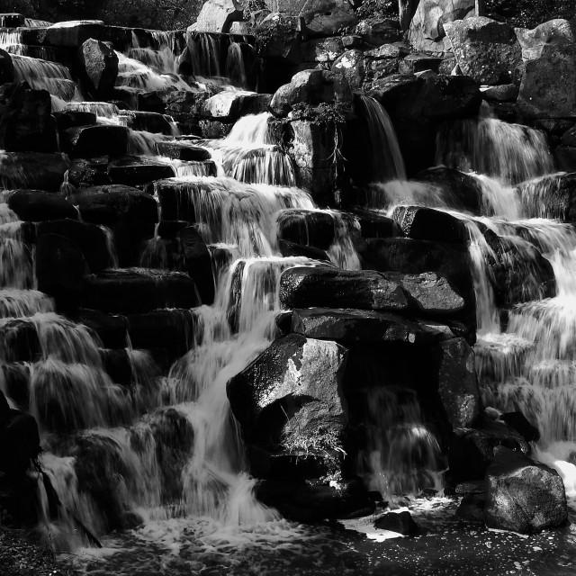 """Waterfall Cascade : Virginia Water"" stock image"