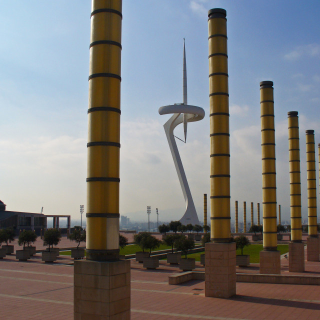 """Estadi Olímpic Lluís Companys - Barcelona"" stock image"