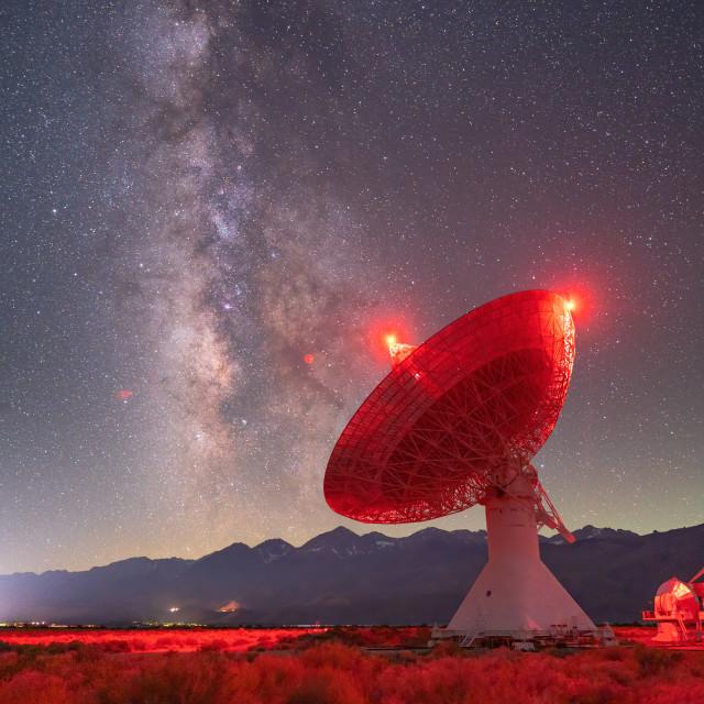 """Scanning the night sky"" stock image"