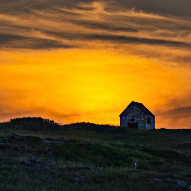 """Sunset over Manana"" stock image"